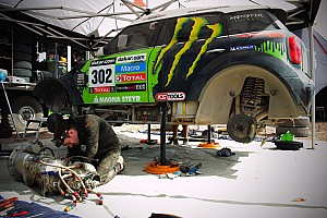 Dakar Breaking news A lot of work on the rest day at Tucuman for X-raid team