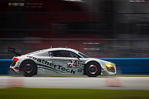 Grand-Am Race report WeatherTech Racing Audi R8 second after six hours in Rolex 24 at Daytona
