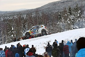 WRC Leg report Ogier and Volkswagen defend their lead in leg two  at the Rally Sweden
