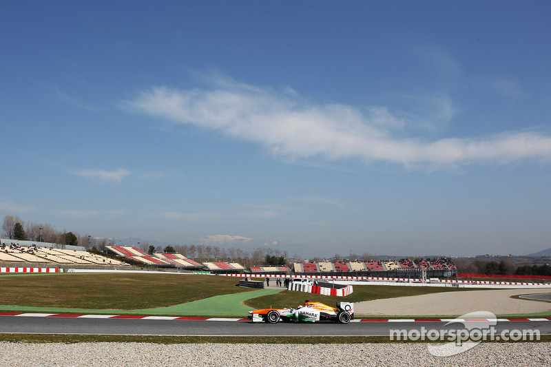 Sutil completed his final day test in Barcelona