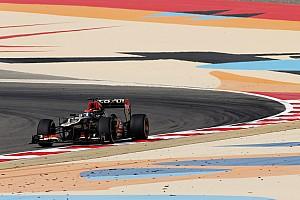 Formula 1 Practice report Lotus' Raikkonen went fastest on Friday practice for Bahrain
