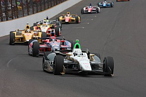 IndyCar Race report Indy 500 pole winner Ed Carpenter strong early Sunday before losing front end