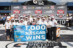 NASCAR Cup Commentary Celebrating Ford's 1,000th win