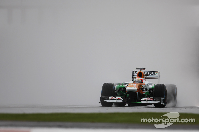 Di Resta set the 4th fastest time, with Sutil in 8th on Friday practice at Silverstone