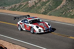Hillclimb Qualifying report Porsche 911 GT3 cup racers first and third in time attack at Pikes Peak qualifying