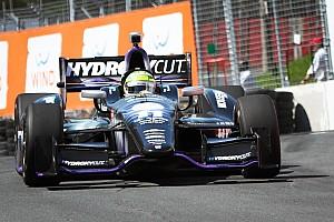 IndyCar Qualifying report Tony Kanaan qualifies season high tying 4th Toronto race one