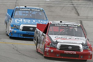 NASCAR Truck Race report Peters victorious at Iowa Speedway