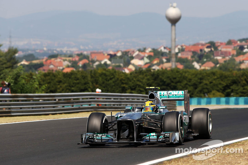 Mercedes set-up car to the new Pirelli tyres on Friday practice in Hungary