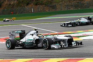Formula 1 Race report Hamilton and Rosberg secured a strong team result on Belgian GP