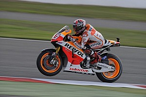 MotoGP Qualifying report Marquez on top of proceedings on day one at Misano