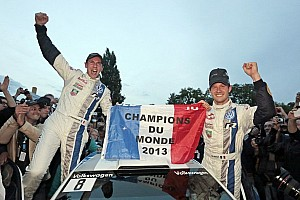 WRC Breaking news Volkswagen's Ogier and Ingrassia crowned 2013 World Rally Champions