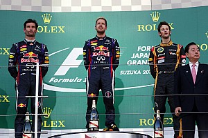 Formula 1 Race report Second consecutive Renault podium lock out in Japan