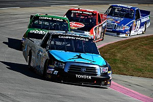 NASCAR Truck Race report Jordan brand Tundra comes out on wrong end of a 'spin and slam'