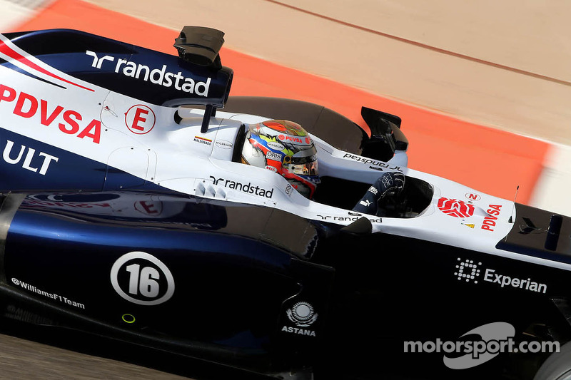 Williams struggled to get the maximum downforce on Friday practice at COTA