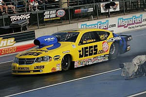 NHRA Qualifying report Coughlin begins Pro Stock title  defense from No. 8 position
