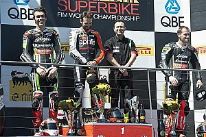 World Superbike Race report Sylvain Guintoli wins race 2 and becomes Championship leader