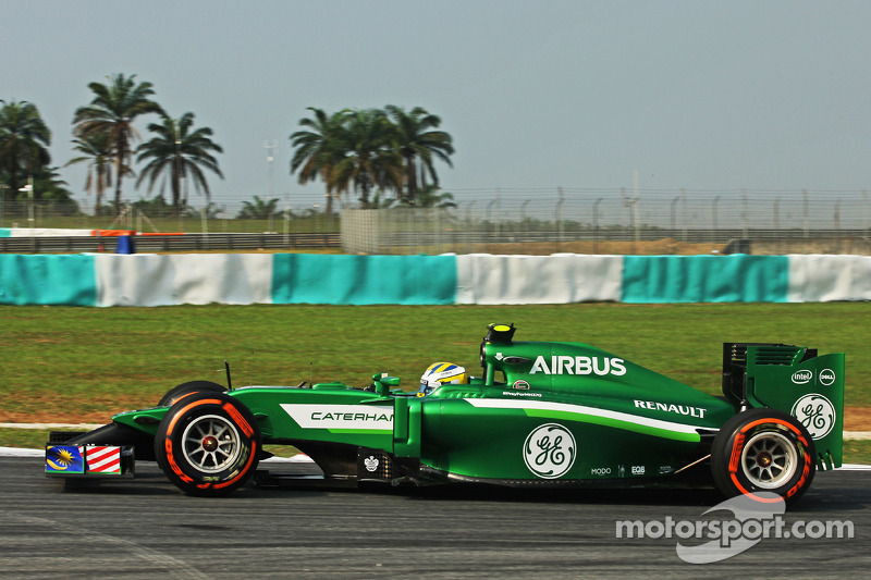 Caterham team ended Friday's practice of Malaysian GP