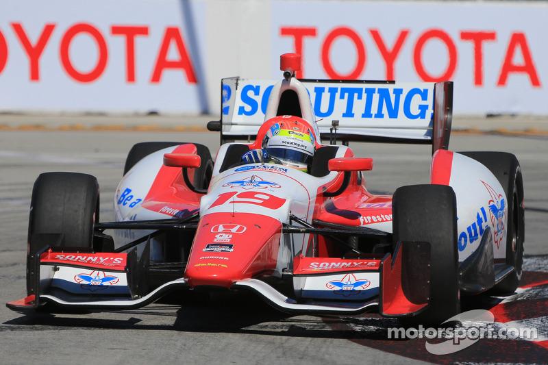 Podium run cut short for Justin Wilson in Long Beach Grand Prix