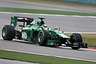 Caterham F1 Team after qualification at Shanghai
