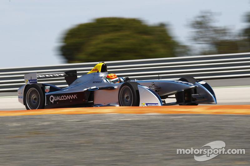China's Ho-Pin Tung tests Formula E racer