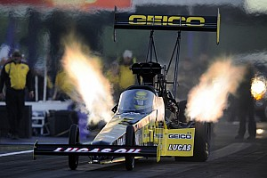 NHRA Race report Crampton misses out on consecutive victories with first-round loss