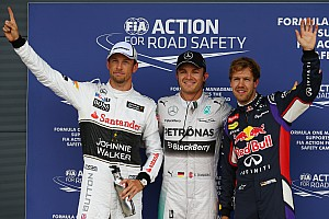 Formula 1 Qualifying report Rosberg snags Silverstone pole in final moments of wet qualifying session