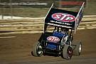 Donny Schatz battles Shane Stewart to win third in a row at Ohsweken Speedway