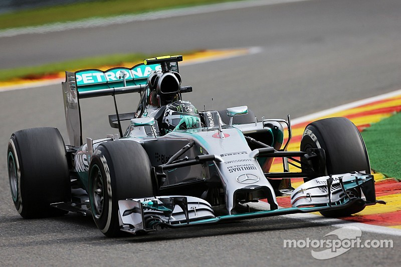 Rosberg fastest in opening practice for Belgian Grand Prix
