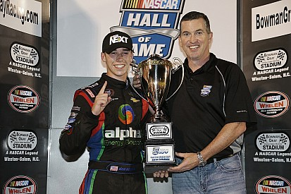 Teenager, high school student, and NASCAR champion Ben Rhodes