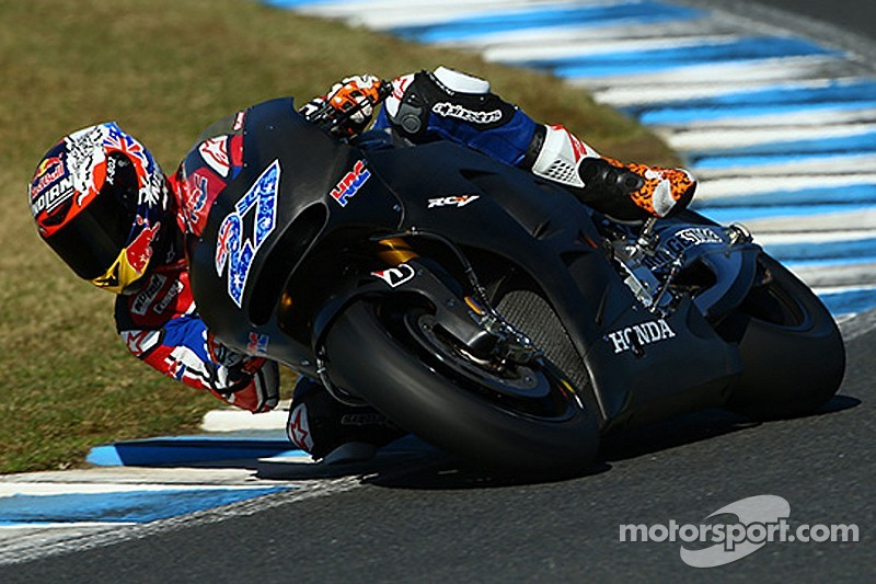 Stoner signs new HRC testing deal for 2015