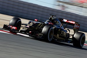 Formula 1 Testing report Lotus' Grosjean completes his final day of pre-season testing at Barcelona