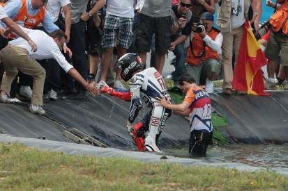 Jerez 2010: Als Jorge Lorenzo fast im Teich ertrunken wäre...