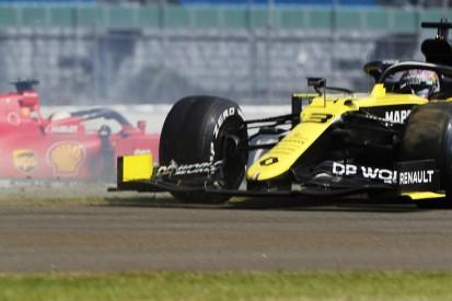 """Anspielung auf Vettel: Ricciardo mit einem """"Seb-Dreher"""" in Silverstone"""