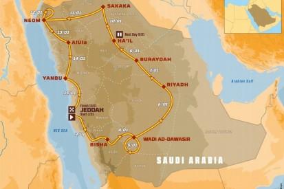 Die Route der Rallye Dakar 2021 in Saudi-Arabien im Detail