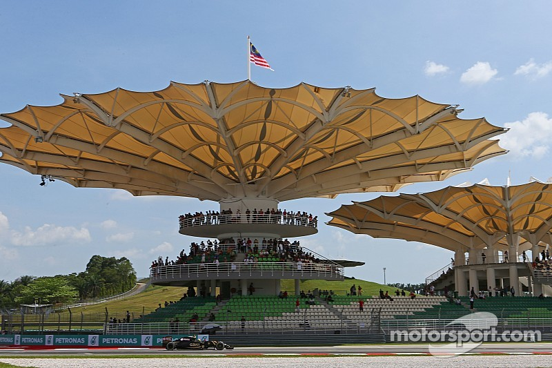 A modicum of frustration in the first day of running for the Malaysian GP
