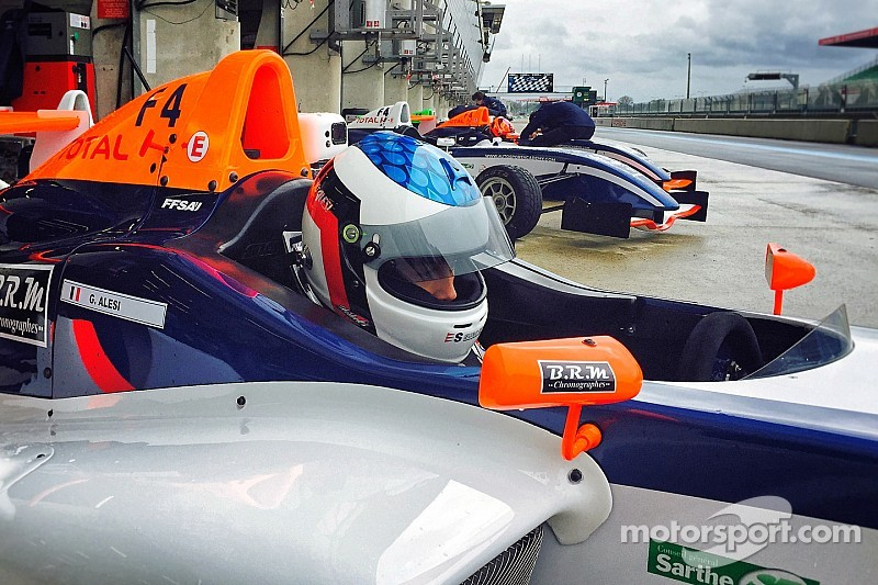 F4 - Giuliano Alesi en pole position pour son premier meeting