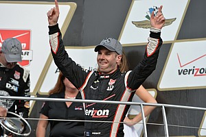 IndyCar Race report Power holds off Rahal to win GP of Indy