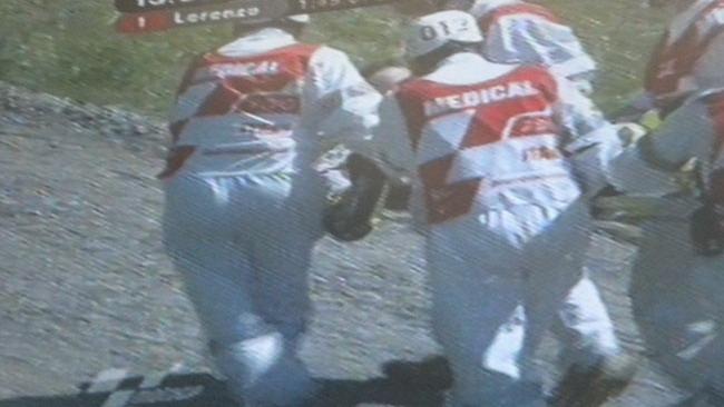 Grande paura per Valentino Rossi