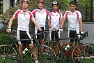 Ferrari Driver Academy in bici con le Colnago