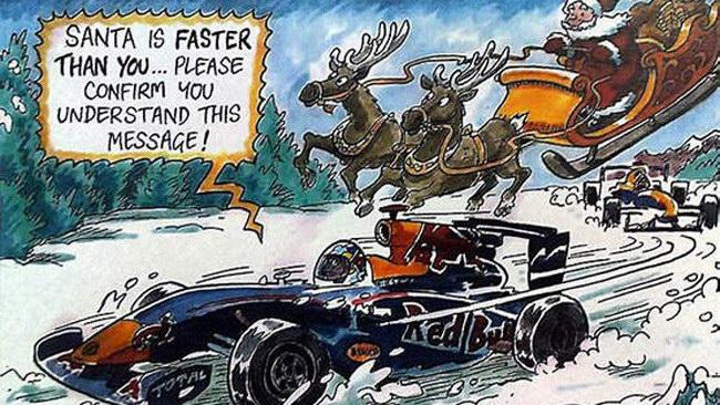 La Red Bull fa gli auguri scherzando sulla Ferrari
