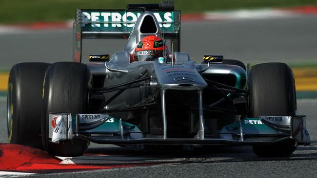 Barcellona, Day 4: Schumi e la Mercedes velocissimi
