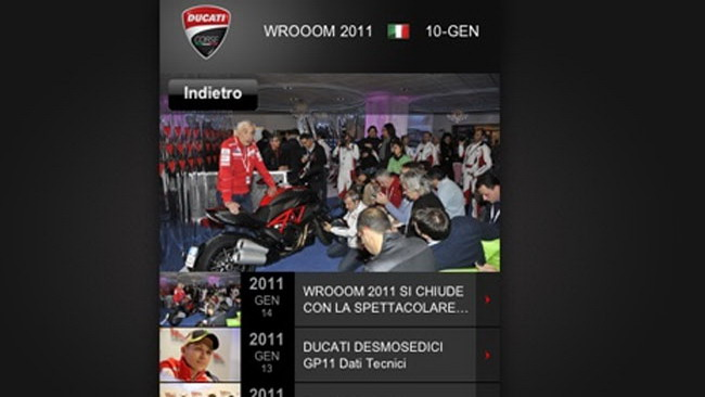 Ecco l'App Ducati Corse per iPhone