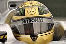 Il casco di Michael Schumacher è coperto d'oro!