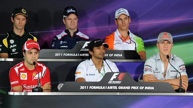 Siparietto Massa-Barrichello in conferenza stampa