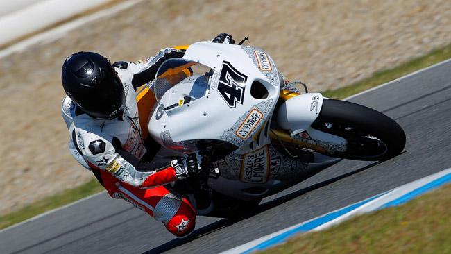 Angel Rodriguez salta su una Bimota a Le Mans