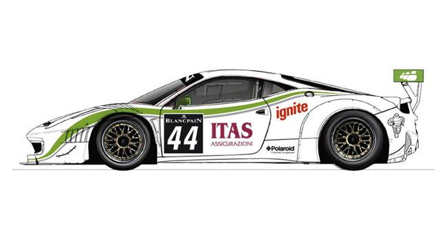 Nuova livrea per la Ferrari di Bonetti a Silverstone
