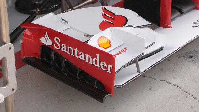 La Ferrari si concentra sulle paratie dell'ala anteriore