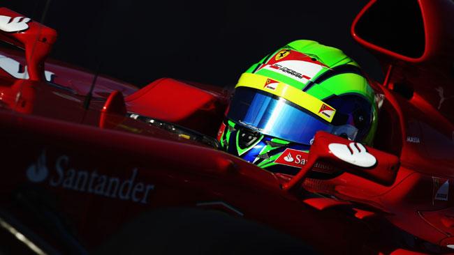 Massa: smontato il retrotreno della sua Ferrari