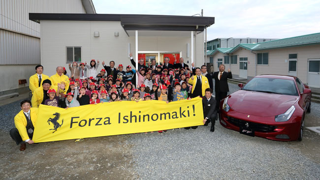 Ferrari ha inaugurato due dopo-scuola a Ishinomaki
