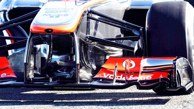La McLaren con il triplo deviatore di flusso